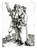 A Rustic Couple  Engraved by Johannes Wierix  C1565 (Engraving)