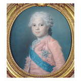 Portrait of Louis of France (1755-1824) Count of Provence and Future King Louis Xviii (Pastel)