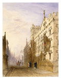 Exeter College  Oxford  1835 (W/C with Graphite and Gum on Paper)