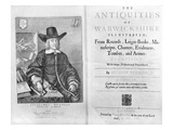 Titlepage and Frontispiece to &#39;The Antiquities of Warwickshire&#39; by William Dugdale  1656