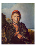 Fisher Boy (Oil on Canvas)