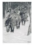 Travelling in Frontier Days  Illustration from &#39;The City of Cleveland&#39; by Edmund Kirke