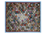 Optical Flower Puzzle Quilt  1854 (Silk)