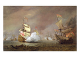 Sea Battle of the Anglo-Dutch Wars  c1700