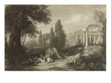 Bryon's Dream  Engraved by James T Willmore (1800-63) 1833 (B/W Litho)