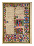 Fol201R Letter from St Paul to the Ephesians  from the Borso D'Este Bible Vol 2 (Vellum)