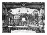 A Performance of 'Le Turc Genereux' in Vienna on 6th April 1758  Published in 1759 (Engraving)