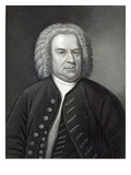 Portrait of Johann Sebastian Bach  German Composer (Engraving)