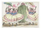 Red-Set Girls and Jack-In-The-Green  Plate 2 from 'sketches of Character'  1838 (Colour Litho)