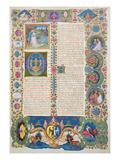Fol284R the Song of Songs  from the Borso D'Este Bible Vol 1 (Vellum)