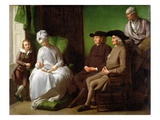 The Artist&#39;s Family (Oil on Canvas)
