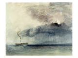 Steamboat in a Storm  C1841 (W/C and Pencil on Paper)