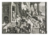 A Sugar Mill and the Production of Sugar Loaves  Plate 14 from 'Nova Reperta' (New Discoveries)