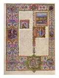 Fol270V Opening to the Book of Solomon  from the Borso D'Este Bible Vol 1 (Vellum)