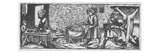 Interior of a Kitchen  from 'Calendarium Romanum' by Jean Staeffler  Printed Tubingen  Germany 1518