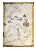 Corsica  Sardinia and Sicily  Detail from a World Atlas  1565 (Vellum)