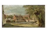 Flatford Mill (Oil on Panel)