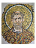 St Ursicinus: Fragment of a Mosaic from the Basilica Ursiana  the Former Cathedral of Ravenna