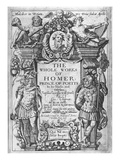 Titlepage to 'The Whole Works of Homer' Translated by George Chapman  Published in 1614-16