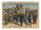 Review of the 14th July  Our Colonial Troops  Illustration from 'Le Petit Journal'