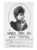 Advertisement for the Carbolic Smoke Ball  a Cure for Hay Fever (Print)