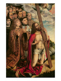 Christ the Mediator with Philip the Handsome (1478-1506) and His Entourage  Left Hand Panel
