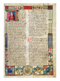 Frontispiece  from a Mariegola of the Lay Guild of St Rocco and St Nicholas  1497 (Ink on Vellum)