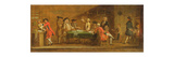 Figures in a Tavern or Coffee House  1720S (Oil on Panel)
