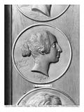 George Sand  1833 (Bronze) (B/W Photo)