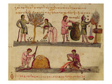 Ms Grec 479 Working in the Fields  Illustration from the Cynegetica by Oppian (Tempera on Vellum)