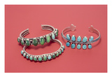 Navajo Bracelets (Silver and Turquoise)