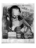 Caricature of Victor Hugo (1802-85) from 'Le Pantheon Charivarique'  19th Century (Litho)