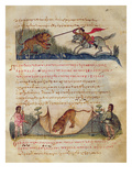 Hunting with Spears and Traps  Illustration from the 'Cynegetica' by Oppian (Tempera on Vellum)