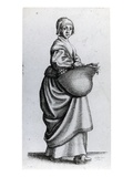 Maid Returning from Market  1640 (Etching)