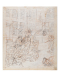 The First Stage of Cruelty  C1750 (Graphite and Red Chalk on Laid Paper)