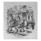 Monmouth Street  Illustration from 'sketches by Boz' by Charles Dickens  1836 (Litho)
