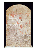 Stele Depicting a Funerary Meal  New Kingdom (Painted Limestone)