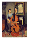 Woman with a Double Bass  1908