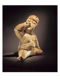 Baby Figure (Ceramic  Cinnabar and Red Ochre)