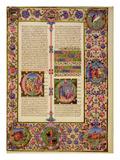 Fol212R Book of Toby  from the Borso D'Este Bible Vol 1 (Vellum)
