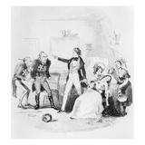Nicholas Congratulates Arthur Gride on His Wedding Morning  Illustration from `Nicholas Nickleby'