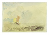 A Sea Piece - a Rough Sea with a Fishing Boat  1820-30 (W/C on Paper)