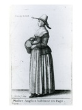 English Country Woman  1643 (Etching)
