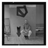 Adolph Gottlieb (1903-74) in His Studio (Photo)