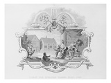 Ticket for the Tiverton School Feast  1740  Engraved by J Moore (Litho)