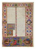 Fol56R Opening to the Book of Ezekiel  from the Borso D'Este Bible Vol 2 (Vellum)