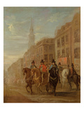 Restoration Procession of Charles Ii at Cheapside  C1745 (Oil on Canvas)