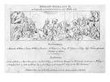 A Key to Help Identify the People in Hogarth's Painting 'The Beggar's Opera'  1790 (Engraving)