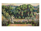 The Artist&#39;s Garden at Durbins  C1915 (Oil on Canvas)