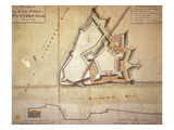 Plan of the New Fort at Pittsburgh  November 1759 (Hand Coloured Engraving)